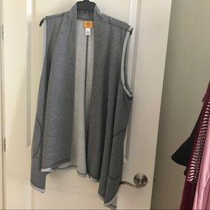 VEST by Ruby Rd sweatshirt type fabric